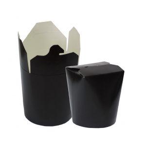 Контейнер для азиатской кухни 700мл чёрный бумага