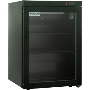 Шкаф холодильный,  150л, 1 дверь стекло, 2 полки, 4 ножки, +1/+10С, дин.охл., черный
