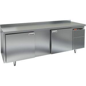 Cтол холодильный для кег, L2.28м, борт H50мм, 2 двери глухие, ножки, 570л, -2/+10С, нерж.сталь, дин.охл., агрегат правый, 4 кеги