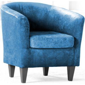 Кресло Каппучино, мягкое, обивка ткань II категории голубая