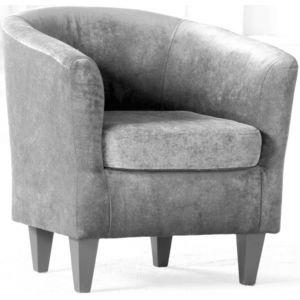 Кресло Каппучино, мягкое, обивка ткань II категории серая