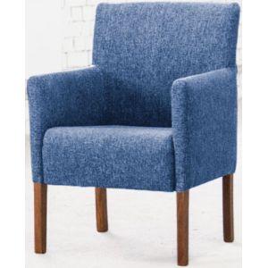 Кресло Бурже, мягкое, обивка ткань II категории голубая