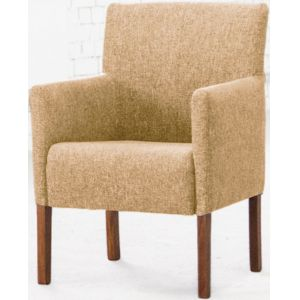 Кресло Бурже, мягкое, обивка ткань II категории бежевая