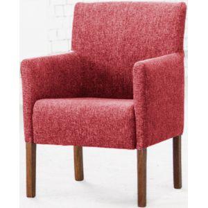Кресло Бурже, мягкое, обивка ткань II категории красная