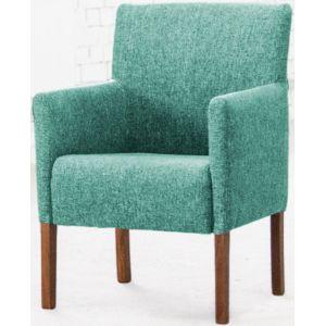 Кресло Бурже, мягкое, обивка ткань II категории бирюзовая