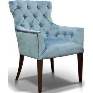 Кресло Байрон, мягкое, обивка ткань II категории голубая