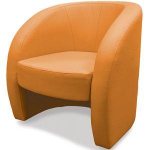 Кресло Глобус, мягкое, обивка экокожа II категории оранжевая