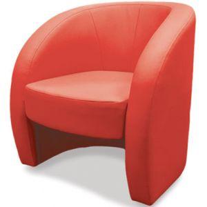 Кресло Глобус, мягкое, обивка экокожа II категории красная