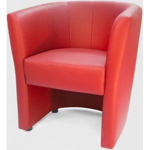 Кресло Кэнди, мягкое, обивка экокожа II категории красная