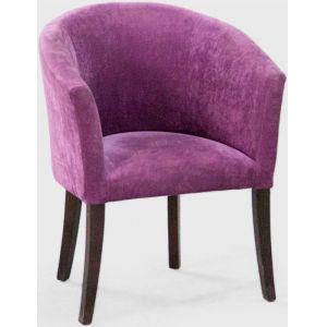 Кресло Бордо, мягкое, обивка ткань II категории фиолетовая