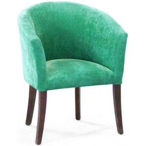 Кресло Бордо, мягкое, обивка ткань II категории зелёная