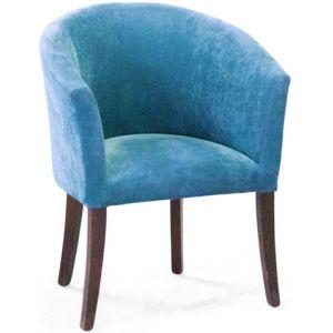Кресло Бордо, мягкое, обивка ткань II категории голубая
