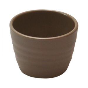 Чаша D 7см h 5см 75мл рифленая, пластик цвет каменный