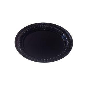 Тарелка 178мм десертная пластик черный