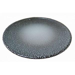 Тарелка d 22см, керамика, серый