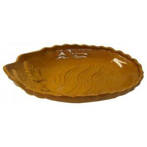 Хлебница L 23см, W 15см, керамика, коричневый
