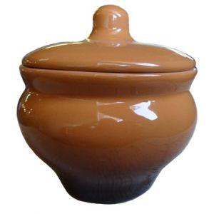 Горшочек 0,35л, керамика, коричневый