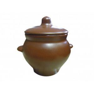 Горшочек для жаркого 0,5л, керамика, коричневый