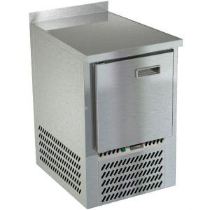 Стол холодильный, GN2/3, L0.57м, борт H50мм, 1 дверь глухая, колеса, -2/+10С, нерж.сталь, дин.охл., агрегат нижний