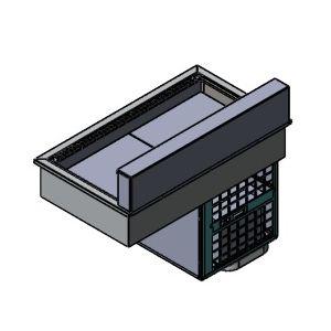 Витрина холодильная  встраиваемая, горизонтальная, для напитков, L1.07м, 3 уровня, +4/+8С, дин.охл., нерж.сталь, без стекла