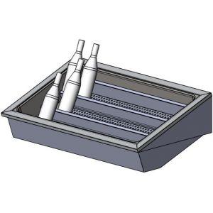 Витрина нейтральная встраиваемая, для напитков в ледяной шубе, L1.07м, 3 уровня, нерж. сталь