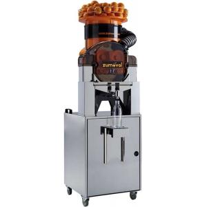 Соковыжималка для цитрусовых, электрическая, напольная, автоматическая, 28шт./мин, электронное управление, бункер, оранжевая, кран нерж.ст.,стенд сам.