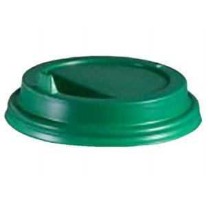 Крышка для стакана 200мл D 80мм пластик зелёный с носиком