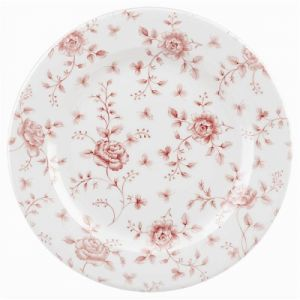 Тарелка мелкая D 30,5см Vintage Prints (цвет Cranberry Rose Chintz), фарфор