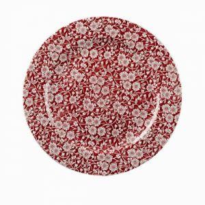 Тарелка мелкая D 30,5см Vintage Prints (цвет Cranberry Victorian Calico), фарфор