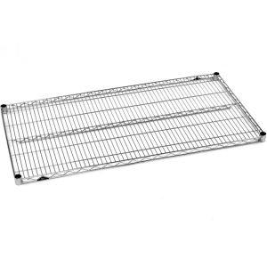 Полка решетчатая для стеллажа, 1219х610х31мм, сталь с покрытием хромоникелевым, для сухих помещений (Уценённое)