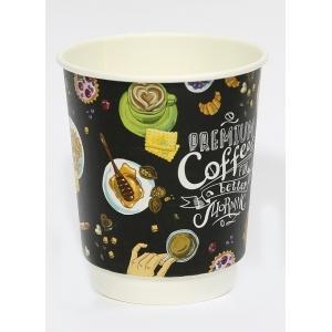 Стакан бумажный для горячих напитков двухслойный Premium Coffee 300мл