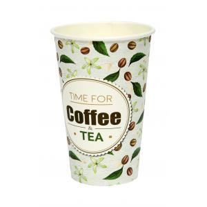 Стакан бумажный для горячих напитков Coffee&Tea 400мл
