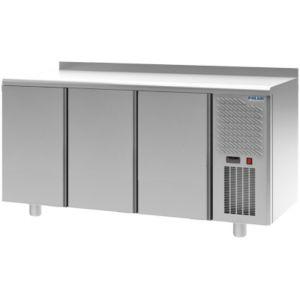 Стол морозильный, GN1/1, L1.63м, борт H60мм, 3 двери глухие, ножки, -18С, нерж.сталь, дин.охл., арегат справа