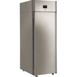 Шкаф холодильный, GN2/1,  700л, 1 дверь глухая, 4 полки, ножки, 0/+6С, дин.охл., нерж. сталь, алюм.профиль, встр.ручка, LED, замок, педаль