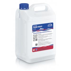 Средство чистящее для комплексной уборки сантехнических помещений, антибактериальное, сильнощелочное SANI MAX 5л.