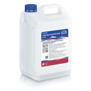 Средство чистящее для стоков и устранения запахов из сливных колодцев, щелочное, SANI MAX KLORIN 2000D 10л.