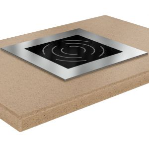 Плита индукционная, 1 конфорка 1х3.5кВт, встраиваемая, 420х420х250мм