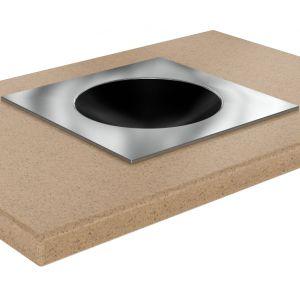 Плита индукционная WOK, 1 конфорка 1х3.5кВт, встраиваемая