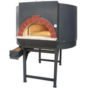 Печь дровяная, 1 камера, под 1.33м2 камень сплошной, термометр аналоговый, корпус черный, дверь сталь, подставка