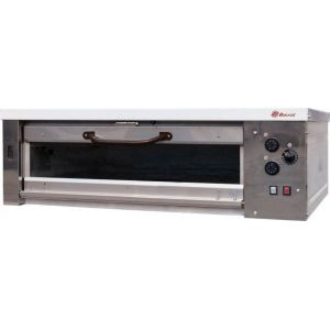 Печь для хлеба электрическая подовая, 1 камера  965х760х250мм, электромех.упр., дверь стекло, паровулажнение, облицовка нерж.сталь