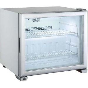 Шкаф морозильный,   49л, 1 дверь стекло, 2 полки, ножки, -13/-22С, дин.охл., обогрев стекла