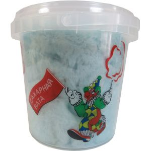 Сахарная Вата в пластиковом стакане с крышкой, голубая малина, 50г.