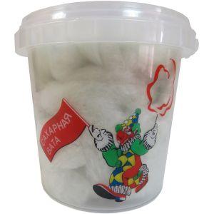 Сахарная Вата в пластиковом стакане с крышкой, зелёное яблоко, 50г.