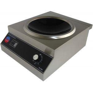 Плита индукционная WOK, 1 конфорка 1х5.0кВт, настольная, электромех.управление