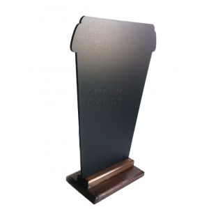 Доска меловая КОФЕ С СОБОЙ L 30см H 42см двусторонняя настольная на подставке CHALKBOARDS FD4230