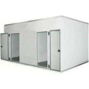 Камера комбинированная из строительных панелей,  17.60м3, h2.50м, 2 двери расп.левая/правая, ППУ80мм, завесы