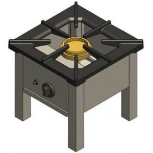 Плита-табурет газовая, 1 конфорка 1х8.0кВт открытая, напольная, магистр.газ