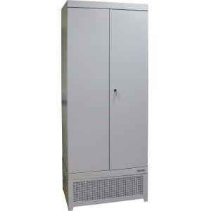 Шкаф тепловой сушильный для одежды,  804х512х2065мм, 2 двери распашные, 6 полок решетчатых, 1 замок, +40/+60С, краш.сталь RAL7035