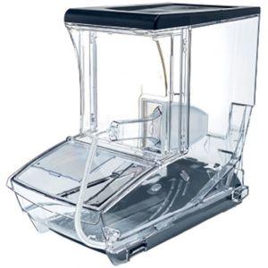 Контейнер для сыпучих продуктов, 12,5л, пластик прозрачный, поддон, совок, ценникодержатель