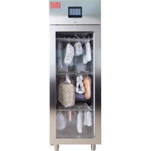 Шкаф для созревания салями и сыров, GN2/1,  700л, 1 дверь стекло, ножки, 0/+40C, 4 пары направляющих